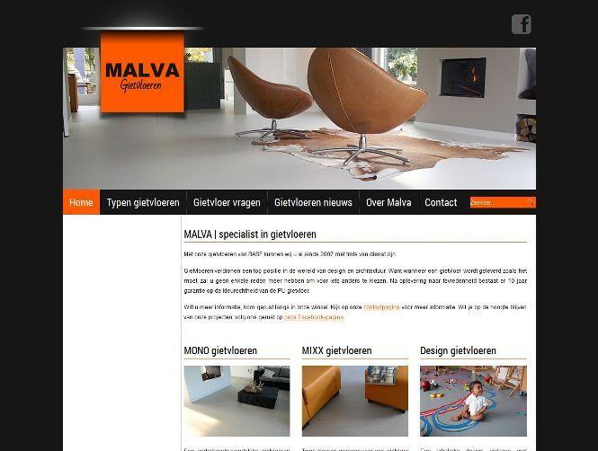In de maand van #opruimen staat deze week de #website van Malva Gietvloeren centraal.