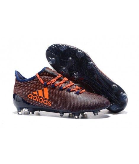 Adidas X 17.1 FG FODBOLDSTØVLE BLØDT UNDERLAG Tpu Mænd Orange Sort Blå Trainers