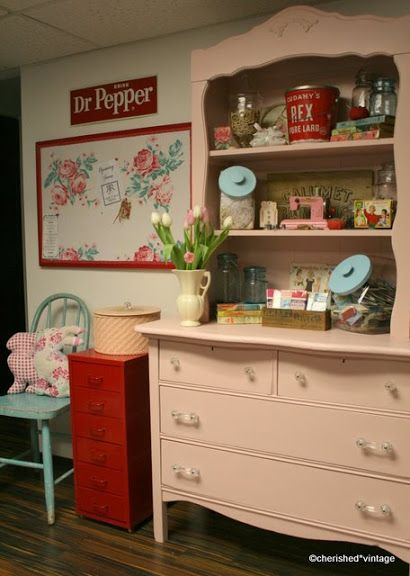 Love The Pink Dresser Kitchen Ideas Colorpink Dressershabby Chic