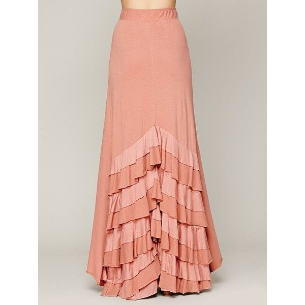 Free People Rizzo Ruffle Skirt ($88) ❤ liked on Polyvore