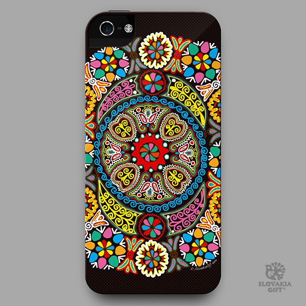 smartphone cover - design inspired by folk embroidery pattern from Detva, Slovakia
