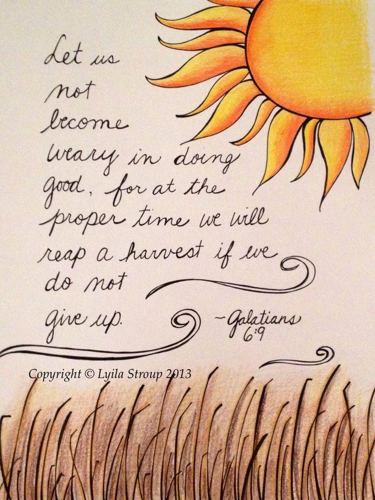 Last poster for Myanmar- Galatians 6:9