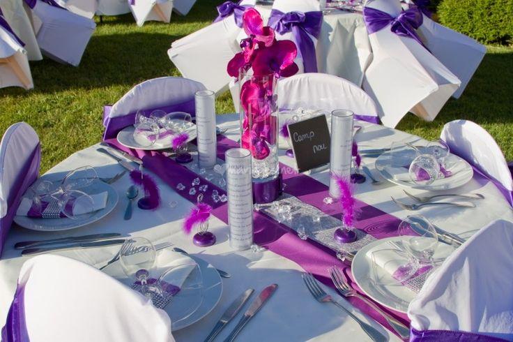 13 décorations de tables de mariage