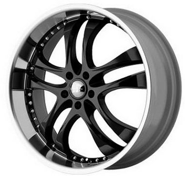 Helo Wheels HE825 - 17 inch 17x7.5 Black Rims with Machined