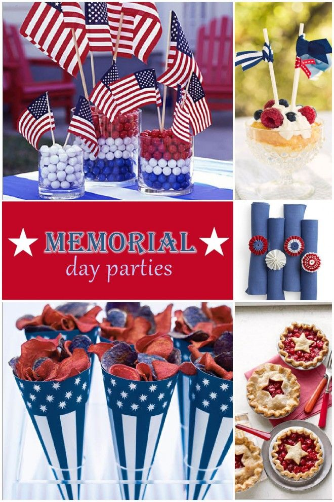 FABULOUS PARTY IDEAS FOR MEMORIAL DAY: Memorialday, July Parties, July Memories, 4Th Of July, July Ideas, July 4Th, Parties Ideas, Patriots Holidays, Memories Day 4Th