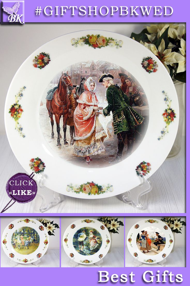 """Italian painter Cesare Auguste Detti (1847-1914). They looks great as a display on the dresser or on the wall can be. Plates The """" Pastoral """" series  is ideal for gift #giftshopbkwed #decor #home #accessory #gift #porcelain #picture #print #accessories #walldecor #plates #homedecor #shabbychic #frenchstyle"""