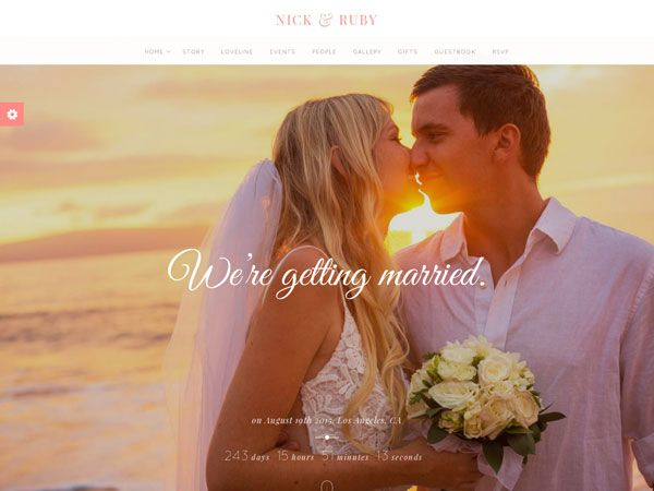 28 High Quality Wedding Website Templates