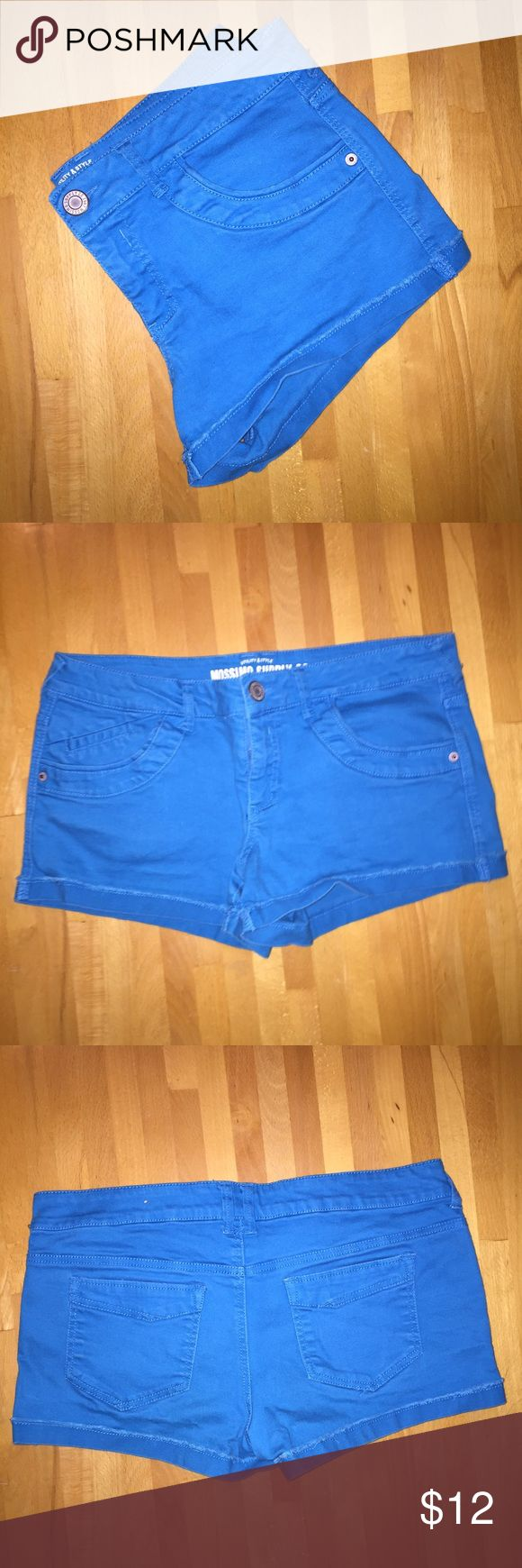 Cyan Shorts These bright blue shorts are super comfy thanks to the cotton + spandex makeup. Actually size 13 but run small and apparently Poshmark doesn't have size 13 as an option Mossimo Supply Co. Shorts Jean Shorts