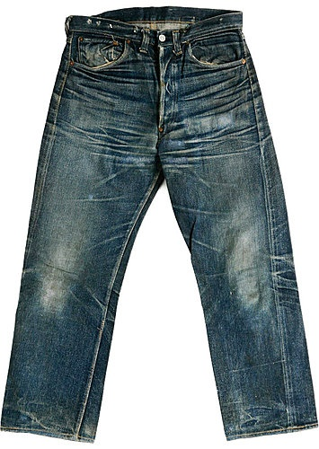 Nice whisker fade of 1937 Levi's 501 xx