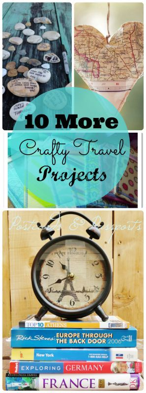 Do you love to craft? And travel? Great! This is the perfect collection of fun crafty travel-related projects for you to make!