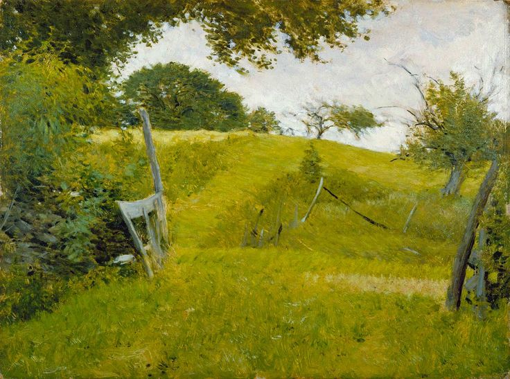 """""""Top of the Hill,"""" Frank Vincent DuMond, ca. 1906, oil on academy board, Florence Griswold Museum."""