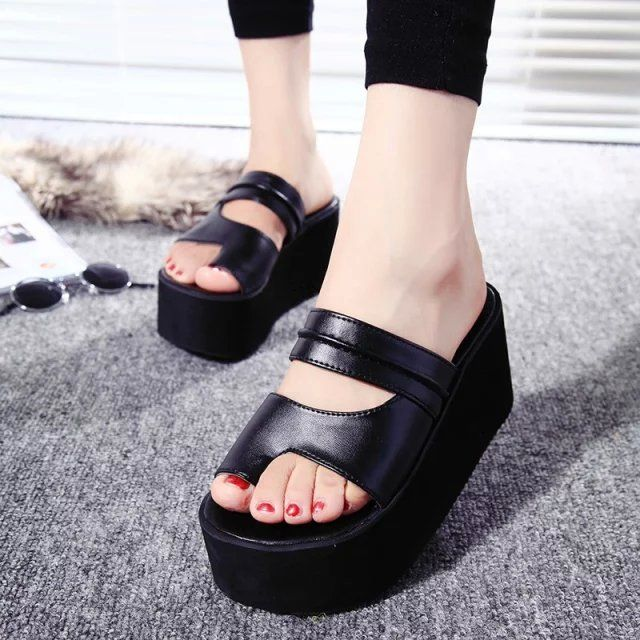 Summer New Arrival 2016 Flip Flops Platform Wedges Sandals Women Foot ping Beach Slippers Women'S Shoes Sandals