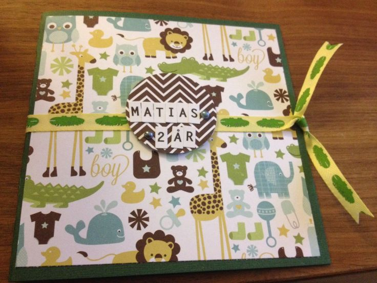 Card for baby boy/ kort til gutt/ DIY/ scrapping