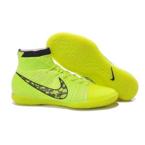 Nike Elastico Superfly IC Amarillo Negro Verde Botas De Futbol