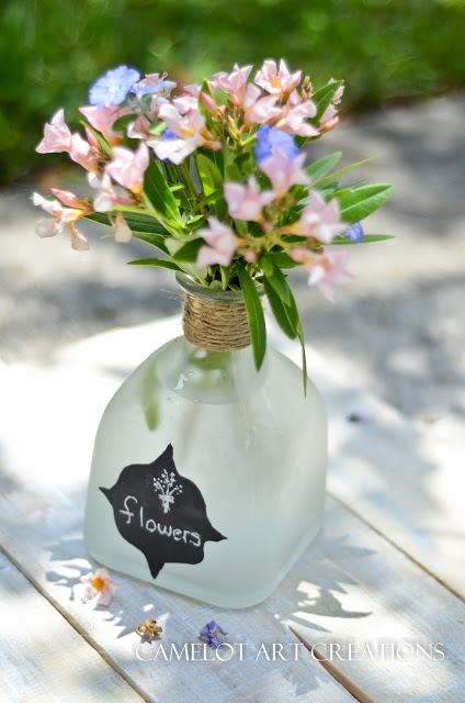 Camelot Art Creations: patron bottles  With Chalkboard label