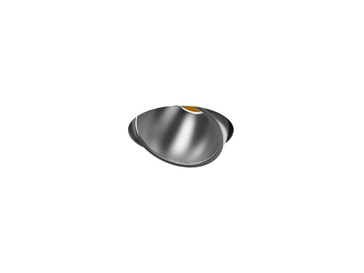 Recessed indoor lighting fixture IP20. An adjustable spotlight mounted with protection glass and different possible reflectors.