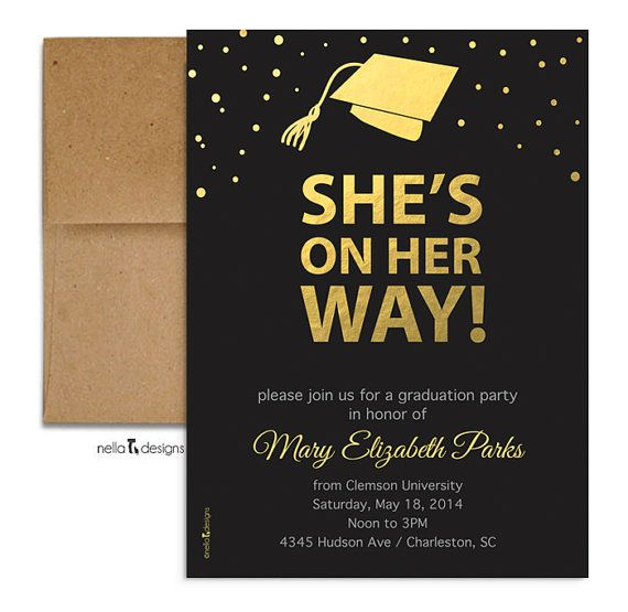 Graduation Party Invitation. Graduation Announcement.