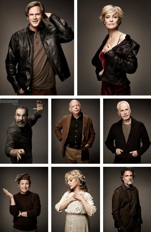 The Princess Bride cast reunited for the movie's 25th anniversary! Top: Cary Elwes (Westley), Robin Wright (Buttercup). Middle: Mandy Patinkin (Inigo Montoya), Wallace Shawn (Vizzini), Christopher Guest (Count Rugen). Bottom: Billy Crystal (Miracle Max), Carol Kane (Valerie), Chris Sarandon (Prince Humperdinck). R.I.P. Andre the Giant (Fezzik) <3