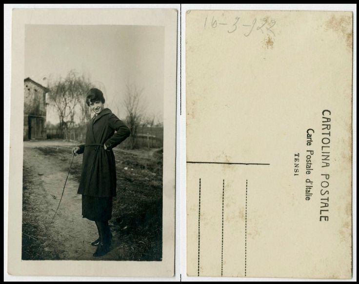 NERINA f FOTO RITRATTO D EPOCA DI SANTINO SALARDI-SAN GIOVANNI IN PERSICETO 1922