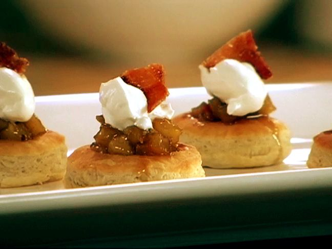 """Bourbon Bacon Apple Tarts - One reviewer commented, """"AMAZING! There is nothing about this that is not to like. BACON AND APPLES! Several layers of flavor. Its like a party in your mouth."""""""