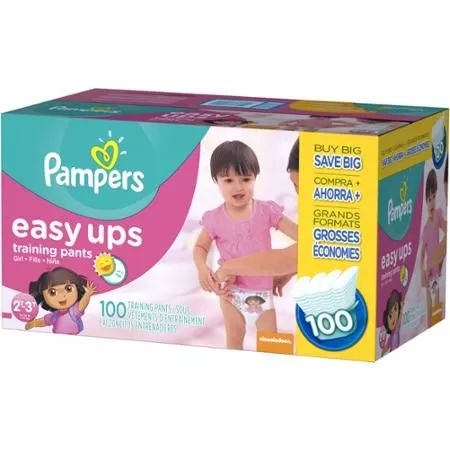 Pampers Easy Ups Girls Training Pants, Value Pack (Choose Your Size)