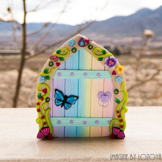 Rainbow Fairy Door Model Camelia // Puerta de por imaginebylozoya