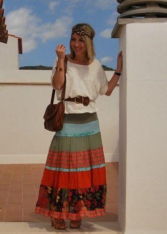 faldas largas hippies - Buscar con Google