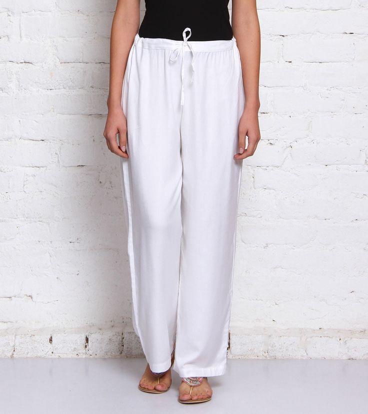 White Linen Trousers #indianroots #fusionwear #trousers #linen #summerwear #casualwear
