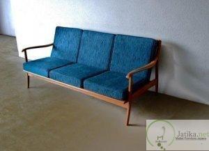 Bangku Sofa Retro Jati Minimalis