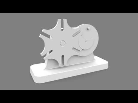 External Geneva Mechanism Animation