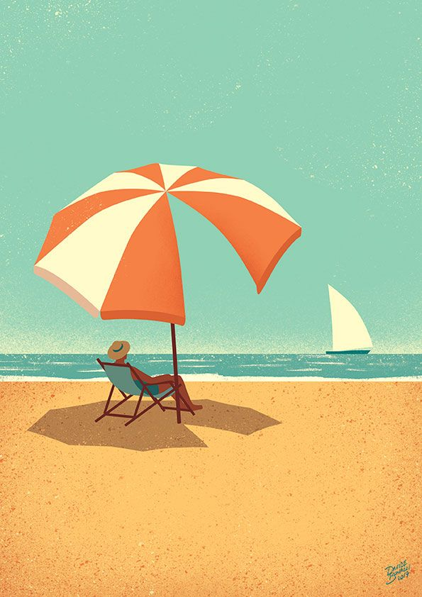 Davide Bonazzi - Summertime. #conceptual #editorial #illustration #summer #summertime #beach #seaside #sailing #relax #lifestyle #davidebonazzi