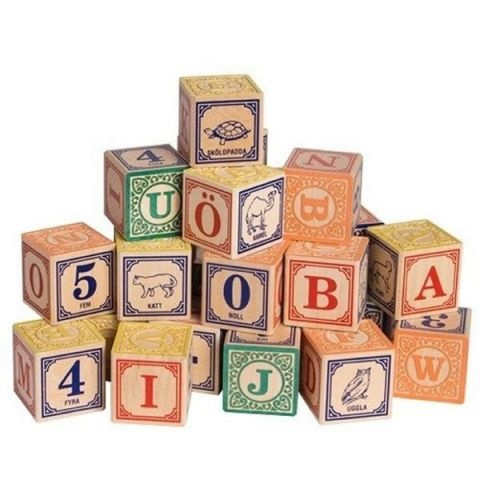 Uncle Goose Swedish Alphabet Blocks  @Angela Anstead