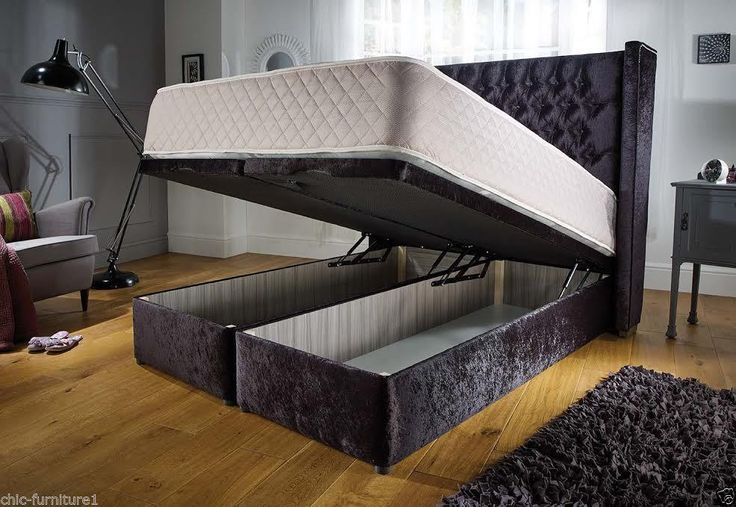 chesterfield wingback  storage ottoman bedframe by sleeppose on Etsy