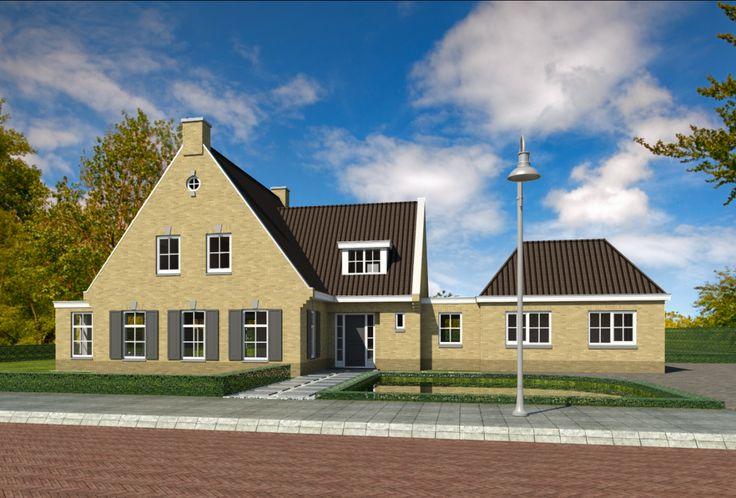 Een fraai ontwerp van een villa met een uitgesproken landelijk karakter.