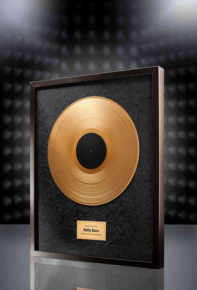 Goldene Schallplatte (Schwarz) - Super Geschenkidee!