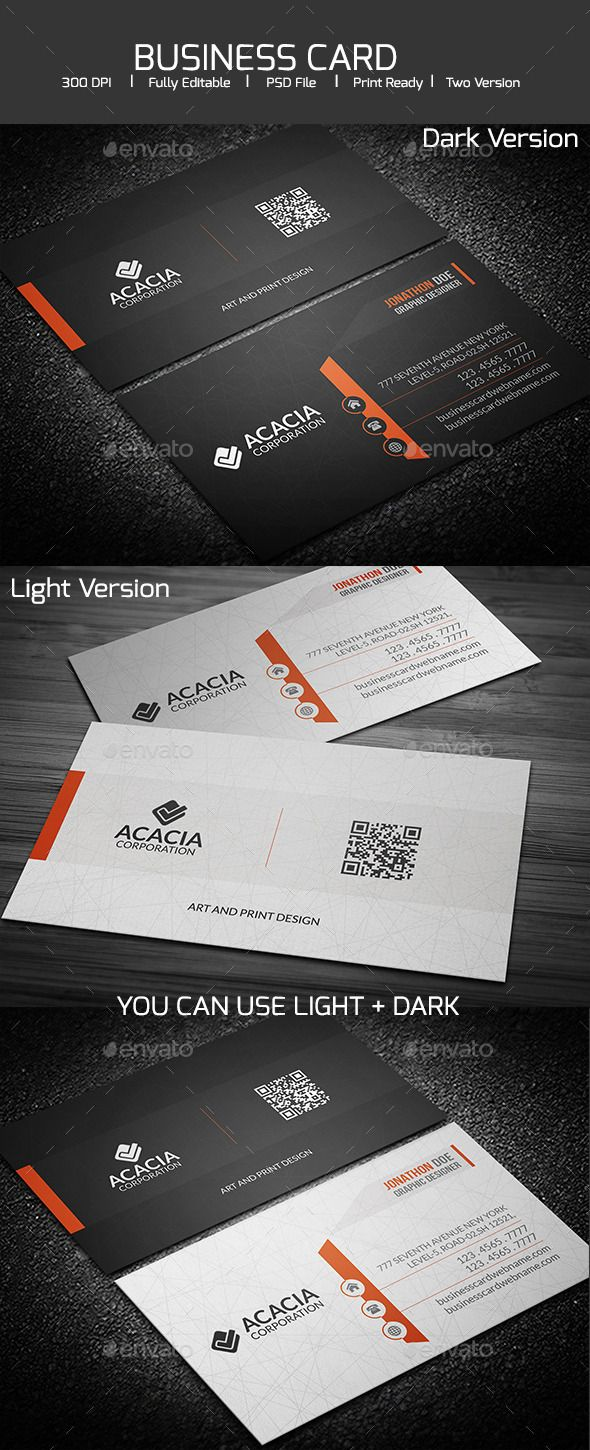 Simple and elegant business card | Business card templates, Design ...