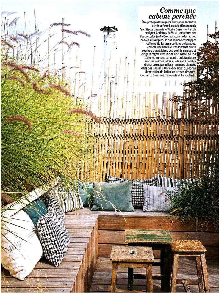 paris wooden benches am nagement d 39 une terrasse parisienne par virgile desurmont. Black Bedroom Furniture Sets. Home Design Ideas