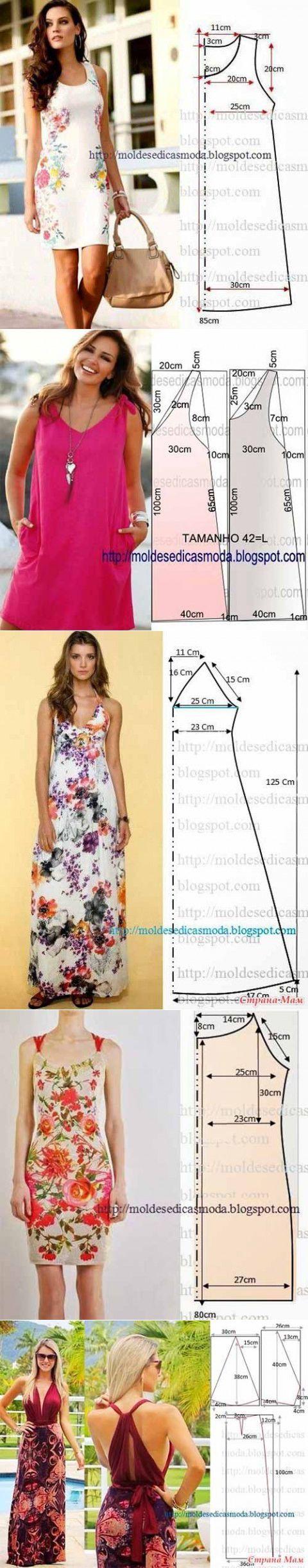 Los patrones simples y vestidos de verano de verano | amante