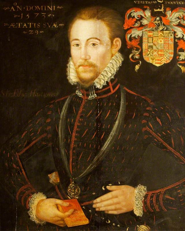 Sir Edward Hastings (1541–1603?). Married Barbara Devereux, daughter of Sir William Devereux and Jane Scudamore. Her paternal grandfather was Walter Devereux, 1st Viscount Hereford. She was the sole heir of both her father and her previous husband Edward Cayce. Hans Francis Hastings, 12th Earl of Huntingdon and all subsequent Earls of Huntingdon are descended in the paternal line from Edward.