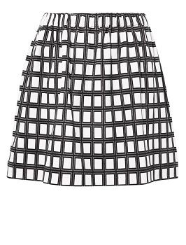 #Frenchconnection A-line black and white check skirt....fashion trend 2013