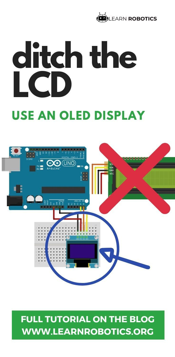 Oled Display With Arduino Tutorial Learn Robotics Arduino Display Arduino Arduino Laser