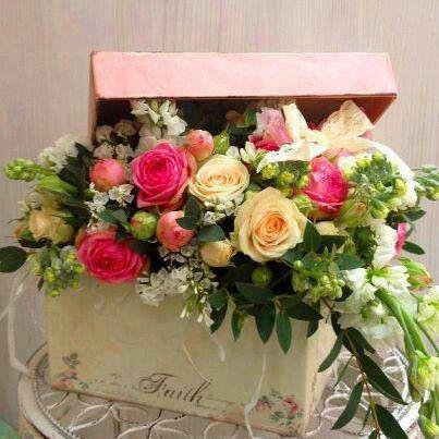 Creative rose arrangement