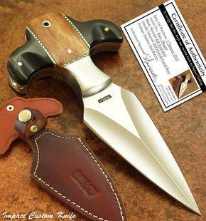 Impact cutlery rare custom d2 boot knife dagger | full tang | bull horn handle