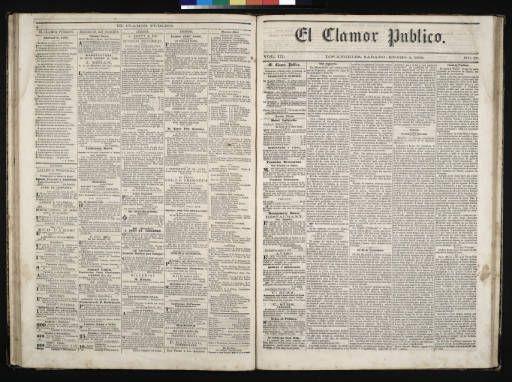 El Clamor Publico, vol. III, no. 27, Enero 2 de 1858 :: El Clamor Publico Collection, 1855-1859