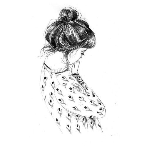 Image Via We Heart It art drawing girl overlay