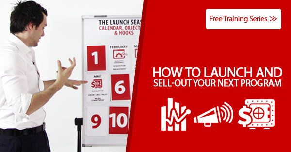 It's finally here! smile emoticon My new free training series shows how coaches, speakers, consultants, authors or trainers can launch and sell-out their programs: www.launchseason.com/training