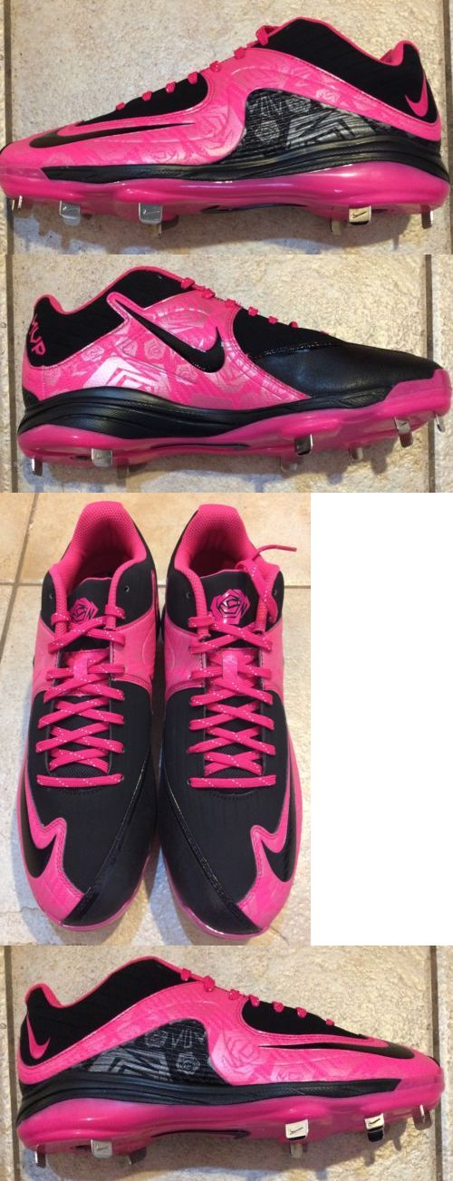 Mens 159059: New Rare Nike Air Mvp Pink Mothers Day Metal Baseball Cleats Pe Mens Size 11 -> BUY IT NOW ONLY: $49.99 on eBay!