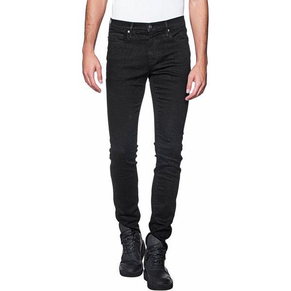 Jeans denim homme noir