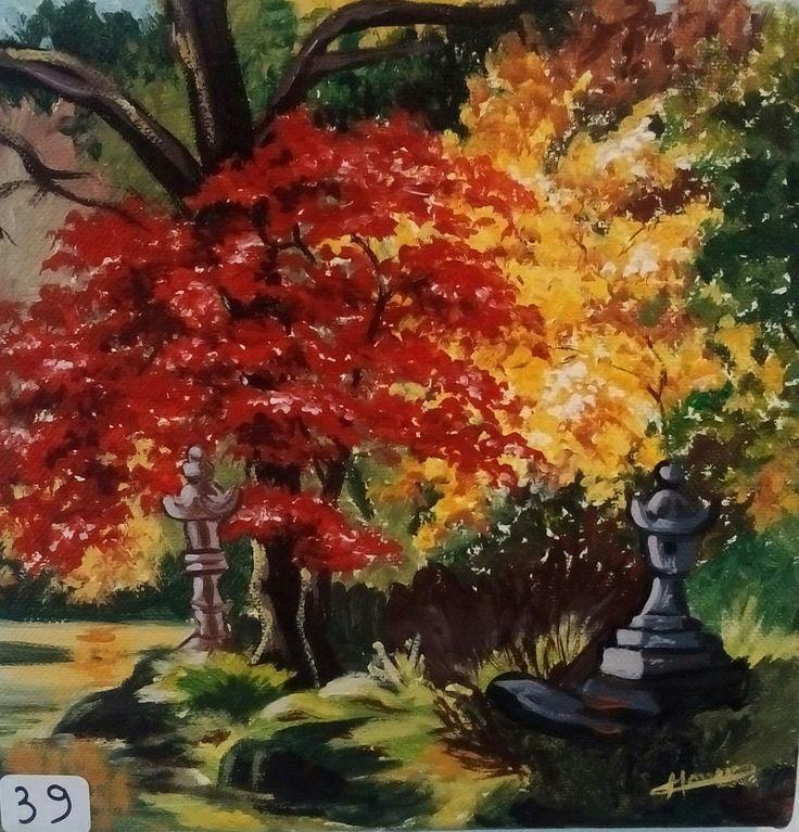 Les 136 meilleures images propos de peinture christine for Jardin japonais 78