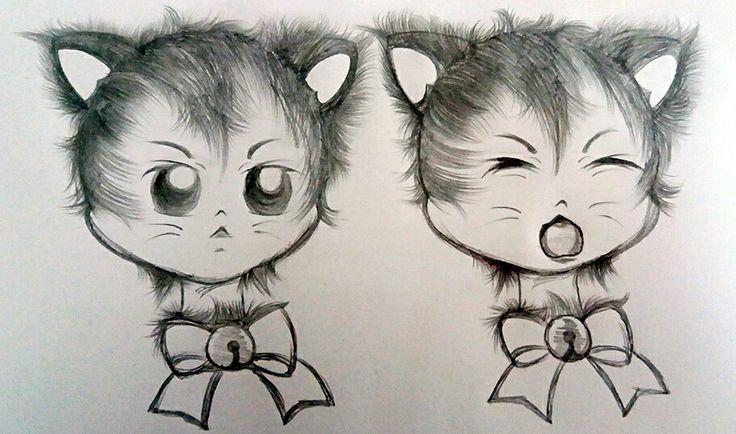 Miah Grrrr @luamiki   #kitten #kittens #babycat #cat #babies #drawing #draft #sketch #desenho #gatinhos #gato #fanart